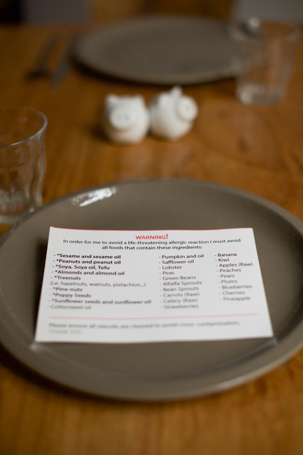 Why You Should Have An Allergy Card At Restaurants Allergy