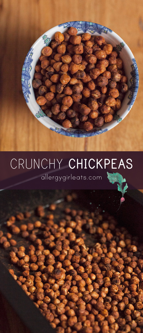 Replace nuts with crunchy chickpeas for allergy friendly meal