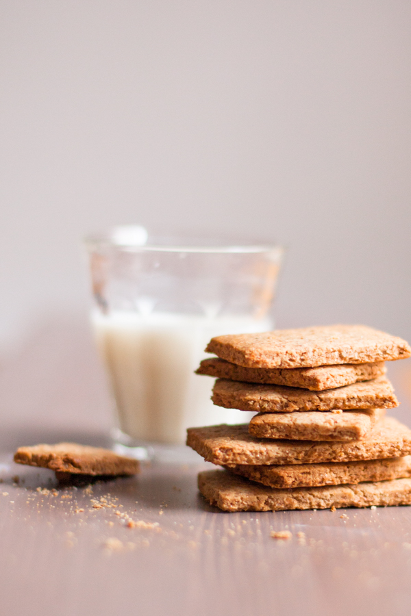 Homemade Graham Crackers are soy free and easy !