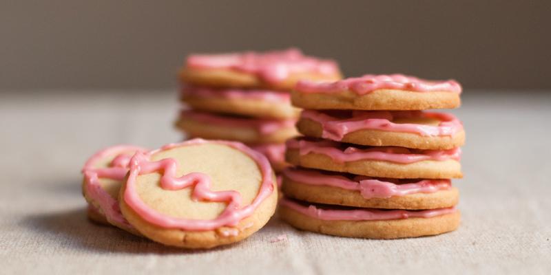 Dairy-Free Sugar Cookies & Dairy-free Raspberry Icing