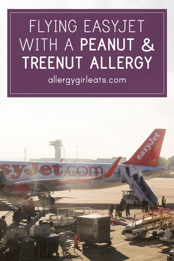 Flying easyJet with a food allergy