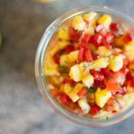 Mango salsa is fruity, spicy and refreshing. Perfect on grilled chicken or salmon.