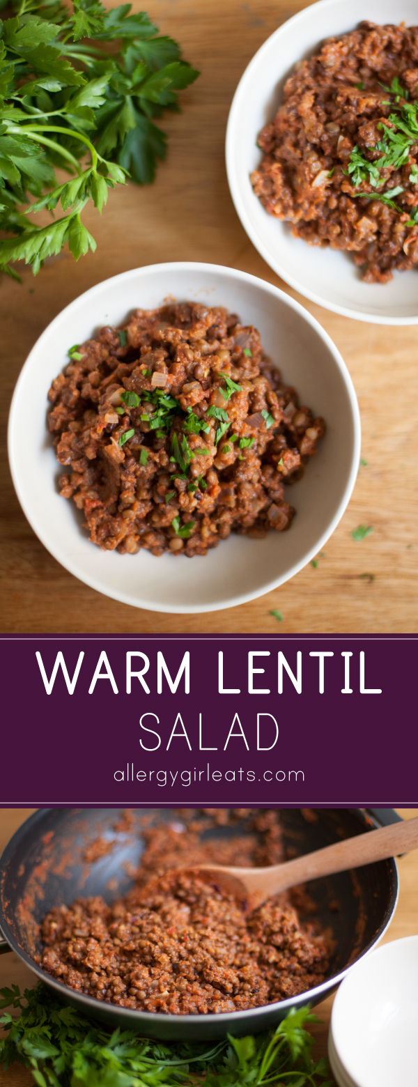 Warm lentil salad is the perfect answer to a healthy and easy ...
