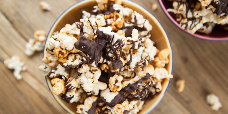 Spicy Mexican Chocolate Popcorn