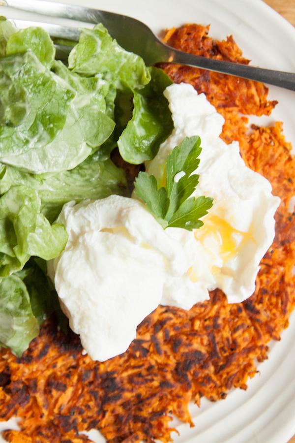 Whole30 Day 2 Meal plan: sweet potato rosti