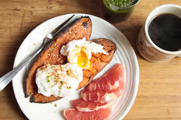 Whole30 Meal Plan Day 20: Sweet potato and poached eggs