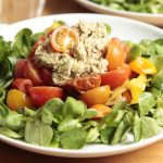 Whole30 Meal Plan Day 21: lunch - warm tomato and sardine salad