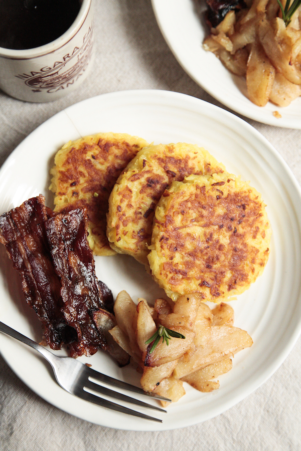 German potato pancakes are gluten free and make with Whole30 compliant ingredients.