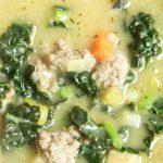 Whole30 Meal Plan: day 25 - potato, kale & sausage soup