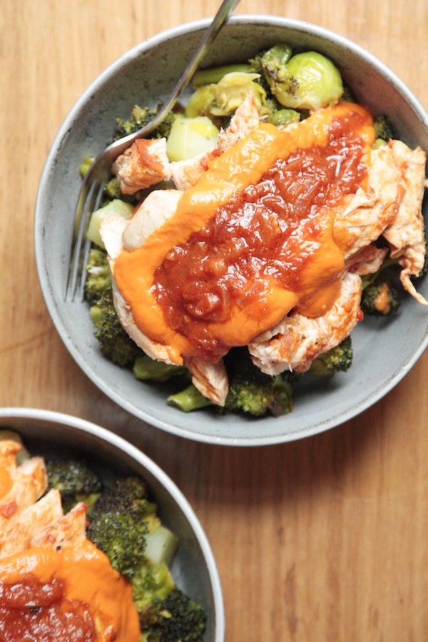Whole30 Meal Plan Day 27: lunch - chicken and roasted veggies
