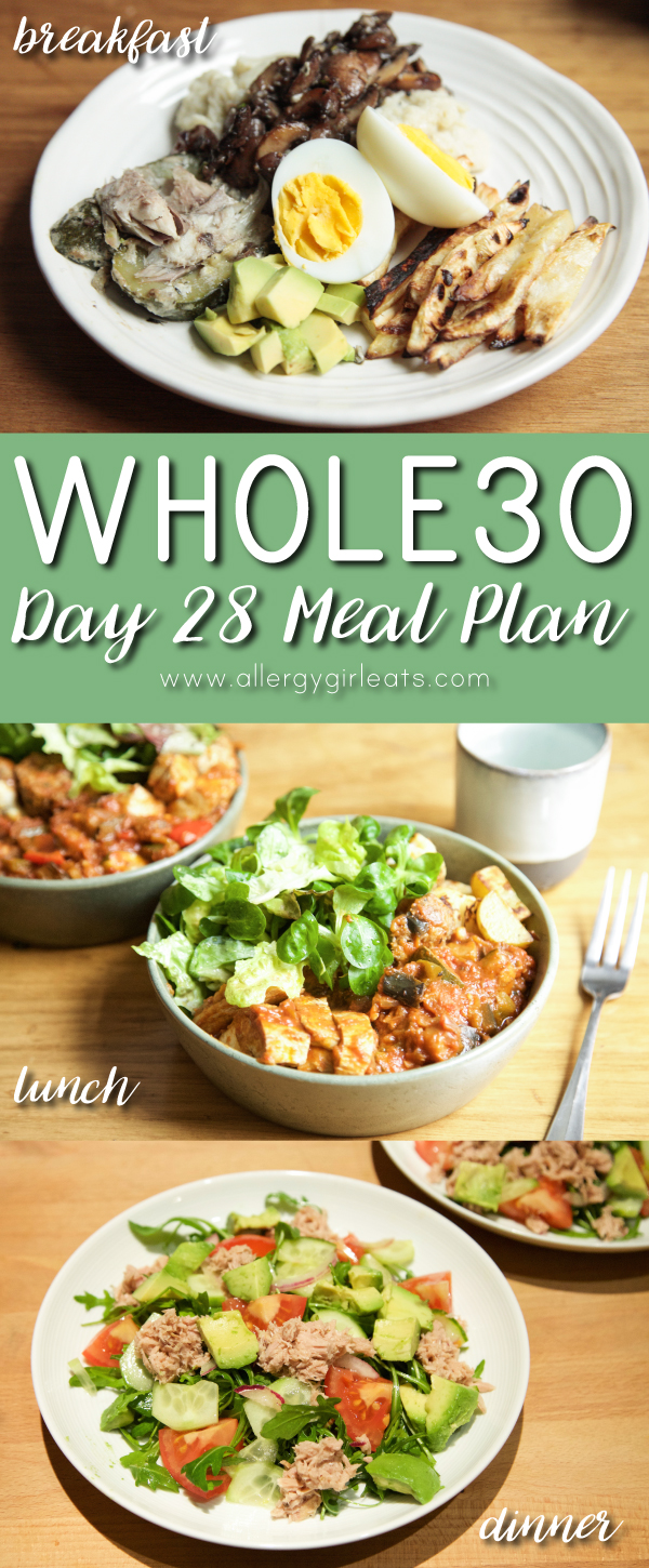 Whole30 Meal Plan Day 28 Leftovers! Make double batches of sugar free and dairy free meals to ease meal planning