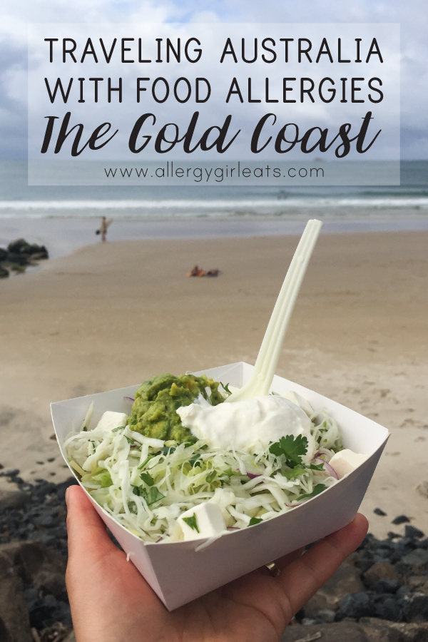 Travelling Australia with food allergies. Where to eat in the Gold coast with a peanut allergy.