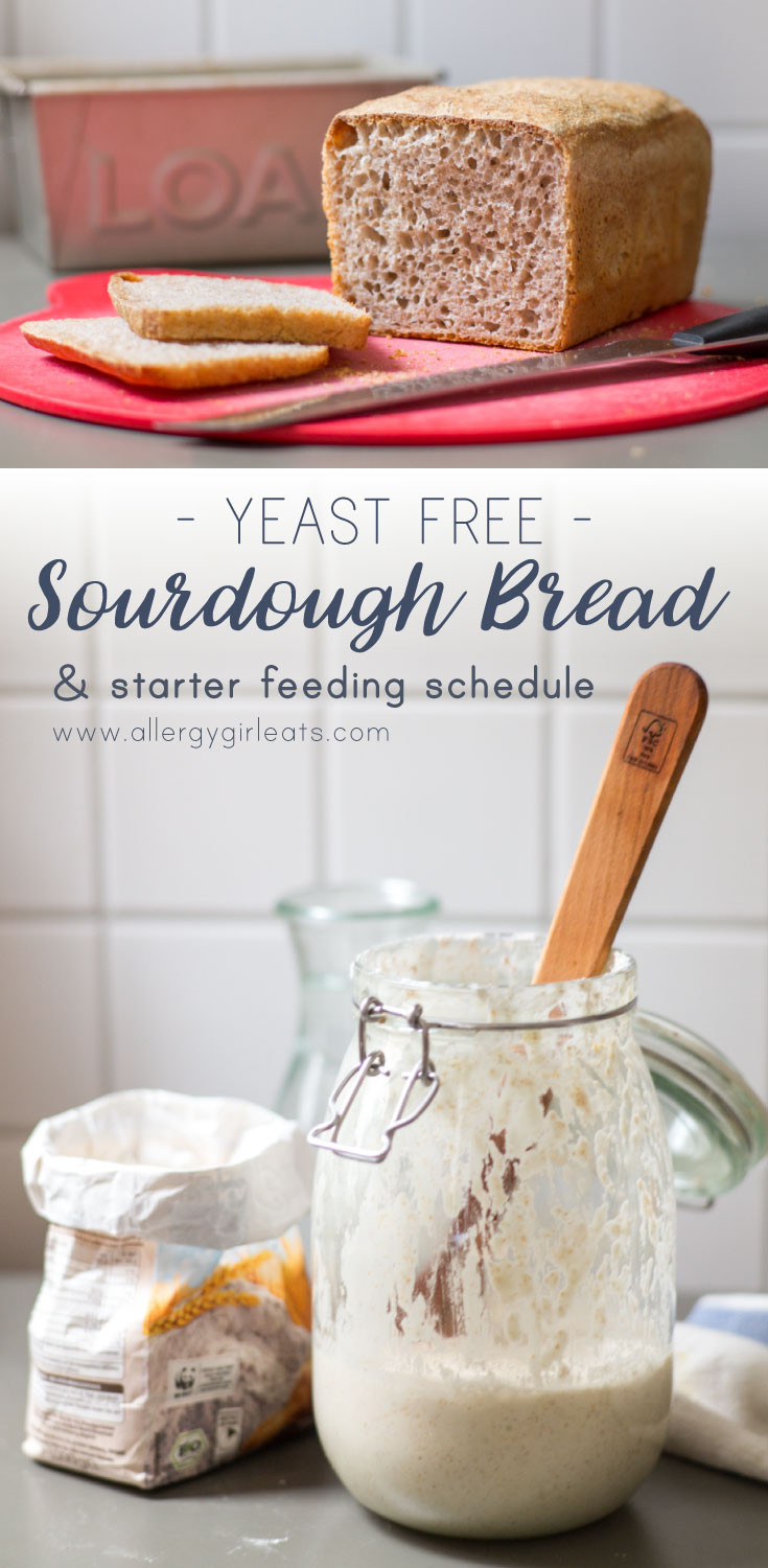 No yeast Sourdough recipe with detailed schedule for feeding your starter