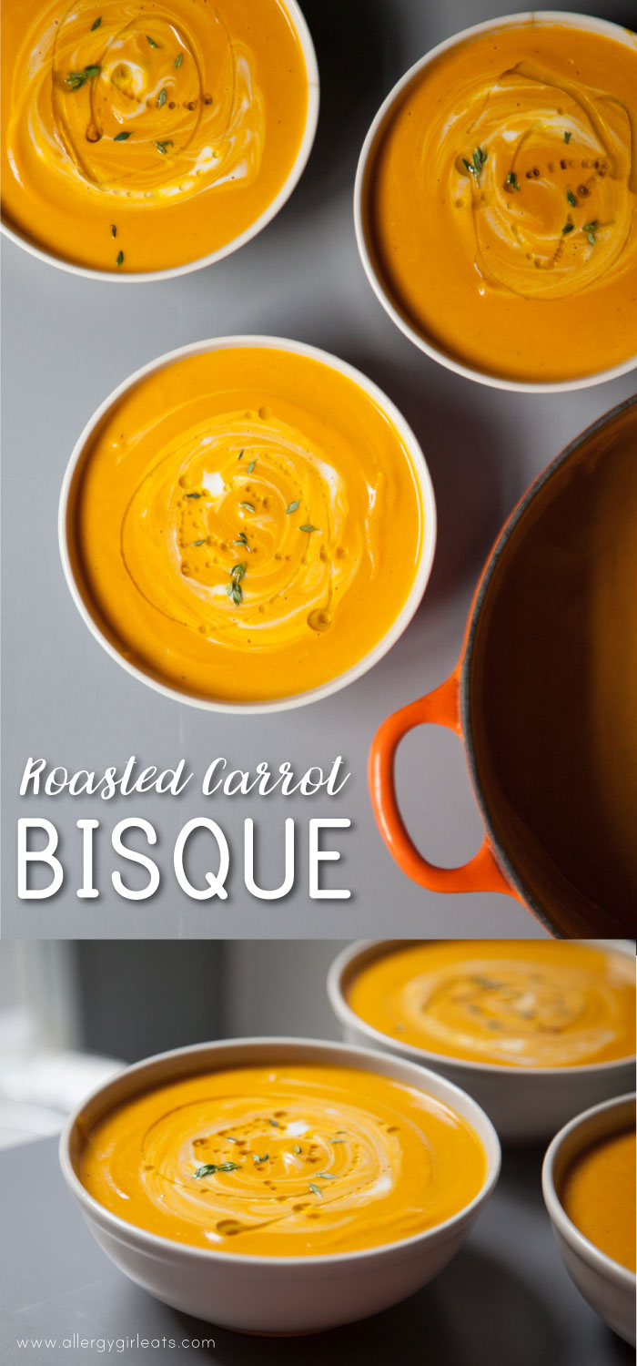 Dairy-free roasted carrot bisque